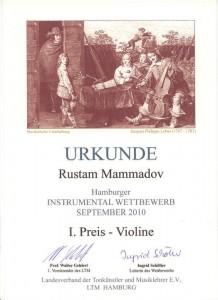 Urkunde Rustam