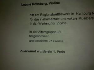 Urkunde Leonie