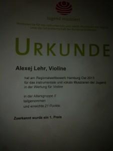 Urkunde Alexej