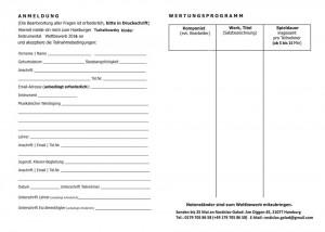 Anmeldungbogen für Tschaikowsky Wettbewerb in Hamburg